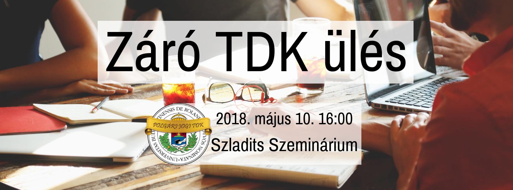 PJ TDK – Záró TDK ülés